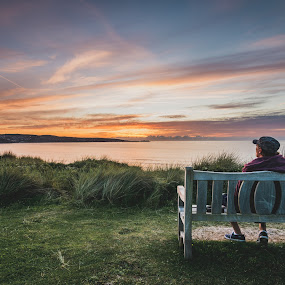 Watching the sunrise by John Haswell - Landscapes Travel (  )
