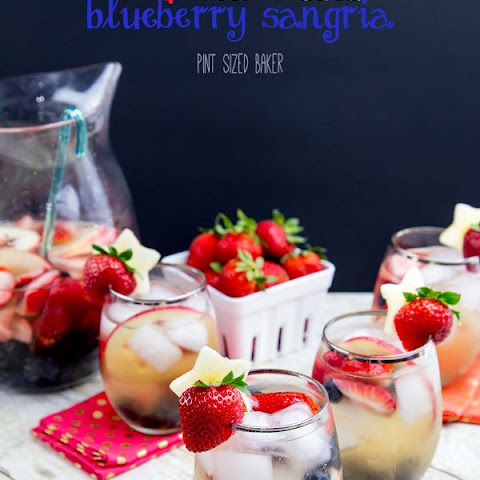 Red, White and Blueberry Sangria