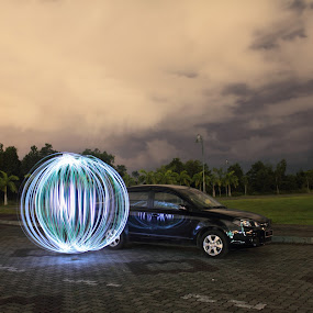 Proton Saga FL by Proton Malaysia by Shoox De LightPainter - Transportation Automobiles ( proton, light painting, borneolightartphotography, orb, cars, photoshoox )