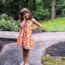 Little Angel  by Tiffany Serijna - Babies & Children Child Portraits ( innocent, tiffanyserijna, raelyn, candid, fun, long, brown hair, cute, rae, sun, outside, portrait )