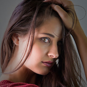 Jackie by Barry Blaisdell - People Portraits of Women ( brown eyes, model, sexy, beautiful, brown hair, portrait )