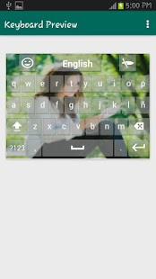 Spanish Input Keyboard - screenshot