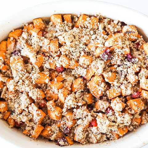Sweet Potato & Cranberry Crumble