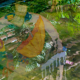 Water Music by Lizzy MacGregor Crongeyer - Artistic Objects Other Objects ( water, abstract, music, whimsical, reflections, pond )
