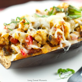 Delicious Turkey Stuffed Eggplant