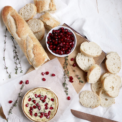 Pomegranate & Thyme Baked Camembert