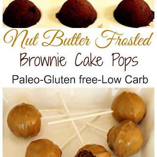 Nut Butter Frosted Paleo Brownies Pops