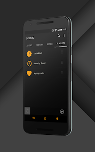 Sense Black/Orange cm13 theme- screenshot thumbnail