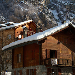 Wooden Chalets by Joe Proctor - Buildings & Architecture Other Exteriors ( wooden, mountain, wood, snow, switzerland, chalet, evolve )