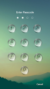 Water Droplet Lock Screen Screenshot