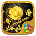 Golden Rose 3D Go Launcher Theme APK for Bluestacks