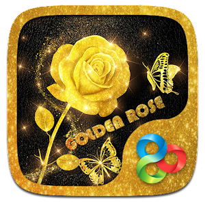 Golden Rose 3D Go Launcher Theme For PC