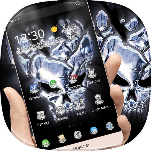 Crystal Hell Skull Live Theme (app)