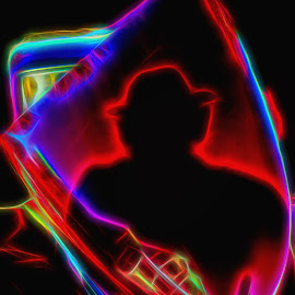Shadow Rider by Dave Walters - Digital Art People ( shadow, reflection, car, abstract, colors )