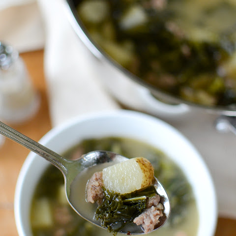 Tuscan Turkey Sausage and Kale Soup