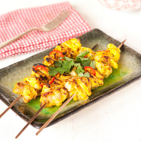 Quark (or Yoghurt ) Marinaded Chicken Tikka Kebabs