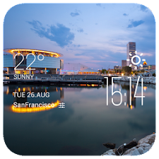 Miami weather widget/clock