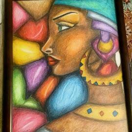 African woman by Sanaz Shahraki - Painting All Painting ( #sanaz.shahraki #painting #colorpencil #african_woman )
