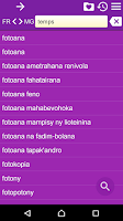 Screenshot of French Malagasy Dictionary Fr