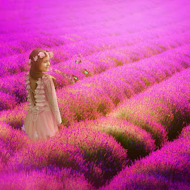 Sienna in Lavender  by Love Time - Digital Art People