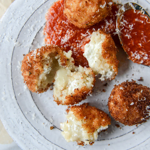Fontina, Roasted Garlic and Goat Cheese Arancini