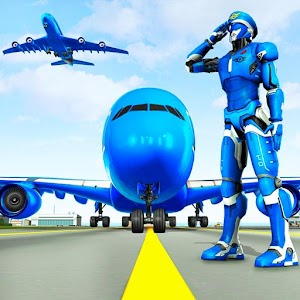 Robot Airplane Pilot Simulator - Airplane Games For PC (Windows & MAC)