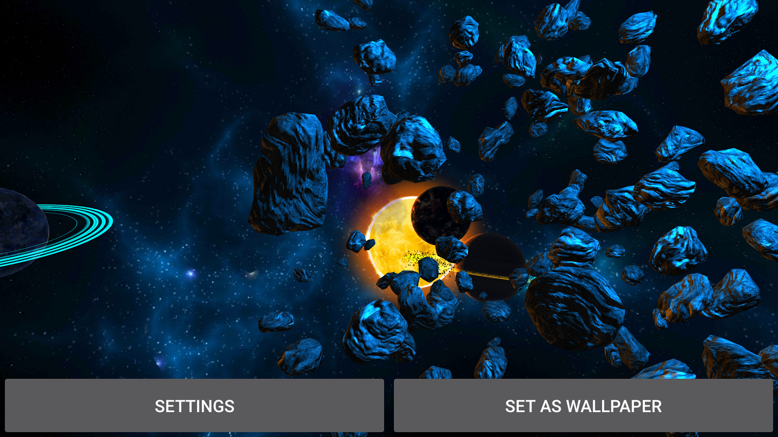 3D Galaxies Exploration LWP Screenshot 16