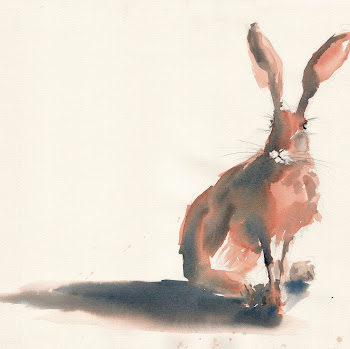 Moon Hare art painting watercolour