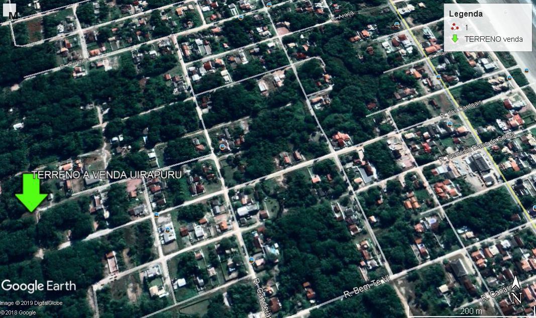 terreno no balneário uirapuru, esquina