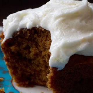 Pumpkin Spice Cupcakes with Orange Sour Cream Frosting