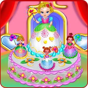 Baby Princess Cake Cooking