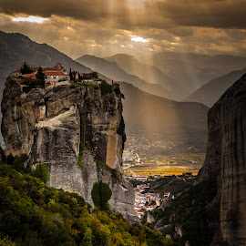 Monastery of the Holy Trinity, Meteora by George Petropoulos - Landscapes Mountains & Hills ( europe, meteora, greece, tourism, sightseeing, relax, tranquil, relaxing, tranquility,  )