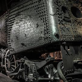 Monster Train by Bruce Lindman - Transportation Trains ( engine, dark, train, repair, spiky )