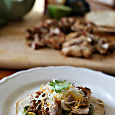 Grilled Chicken Tostadas With Roasted Poblano Guacamole