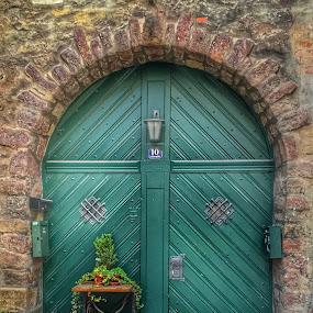 Green door by Briana Jones - Buildings & Architecture Other Exteriors ( green, door, germany )