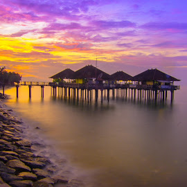 old treasure by Agung Tata - Landscapes Sunsets & Sunrises ( bali, harbor, sunset, indonesia, beautiful, sony alpha, beach, landscape )