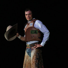 It's About To Get Real by Brian  Shoemaker  - Sports & Fitness Rodeo/Bull Riding ( cowboy, bullrider, pbr, intro, portrait )