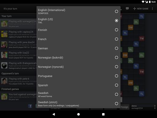 Wordfeud FREE screenshot 12