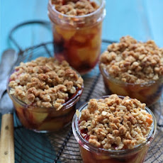 Mini Plum and Peach Bourbon Cobblers