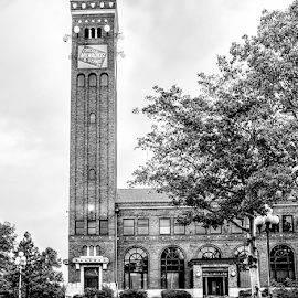 Milwakee Station Pencil 092318 by Anthony Balzarini - Digital Art Places ( #great, #falls, #phorography, #architectual, #mt )