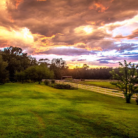 Clouds of Color by Gary Hanson - Landscapes Cloud Formations ( clouds, color, sunset, angry, landscape, evening )