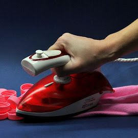 ironing by Viktoria Nikolla - Artistic Objects Clothing & Accessories ( #opticallillusion #fabric #iron #melt )