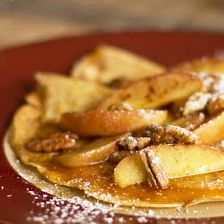 Apple Pecan Crepes with Cheddar Cheese