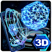 Neon Pentagon 3D Theme APK for Blackberry