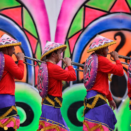 The Trumpeteers by Ferdinand Ludo - People Musicians & Entertainers ( abellana high school, band, colorful, sinulog 2016 )