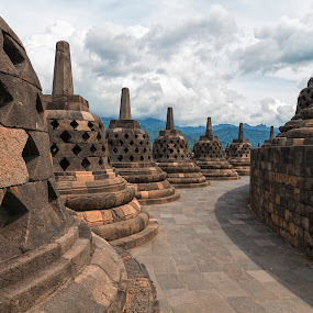 Borobudur by Glen Unsworth - Buildings & Architecture Public & Historical ( temple, indonesia, stone, java, borobudur )