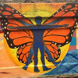 GRAFFITIFLY  by Louis Perlia - City,  Street & Park  Street Scenes ( color, graffiti, art, paint, photo stream )