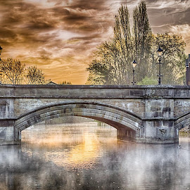 Stamford at dawn by Luis Costa - Landscapes Waterscapes ( relax, tranquil, relaxing, tranquility )