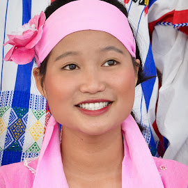Asian Dancer by Judy Rosanno - People Musicians & Entertainers