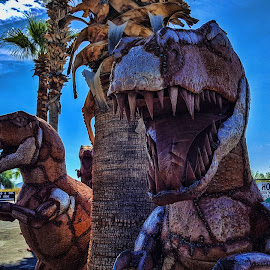 On the Run, Gila Bend, AZ by Tom Anderson - Buildings & Architecture Statues & Monuments ( dinasour sculpture, gila bend, arizona )
